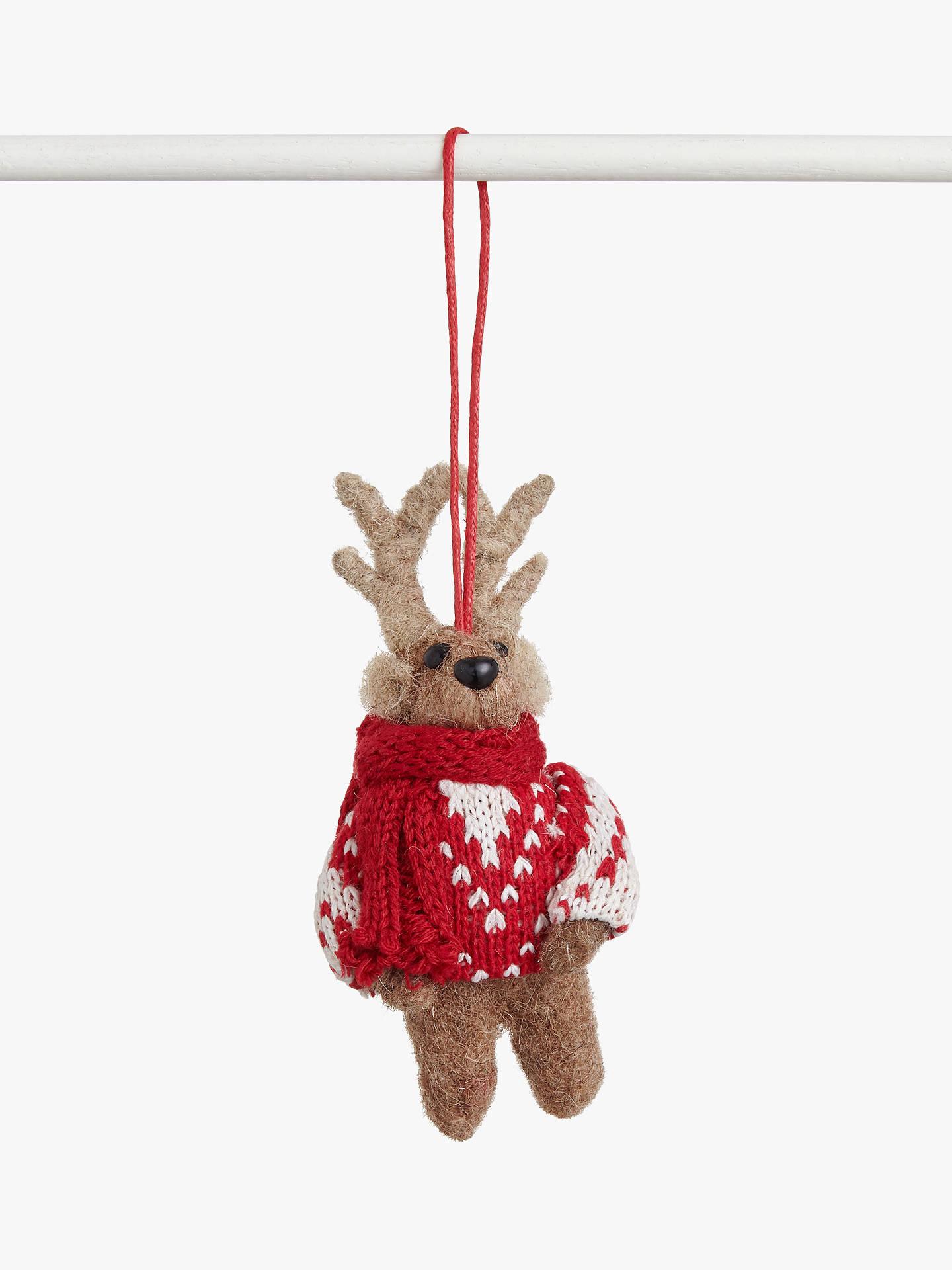 John Lewis Partners Abc Festive Felt Reindeer Tree Decoration
