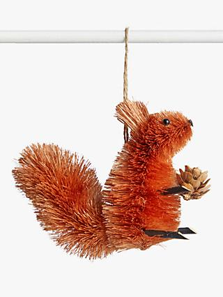 John Lewis & Partners Campfire Nibbles the Squirrel Tree Decoration