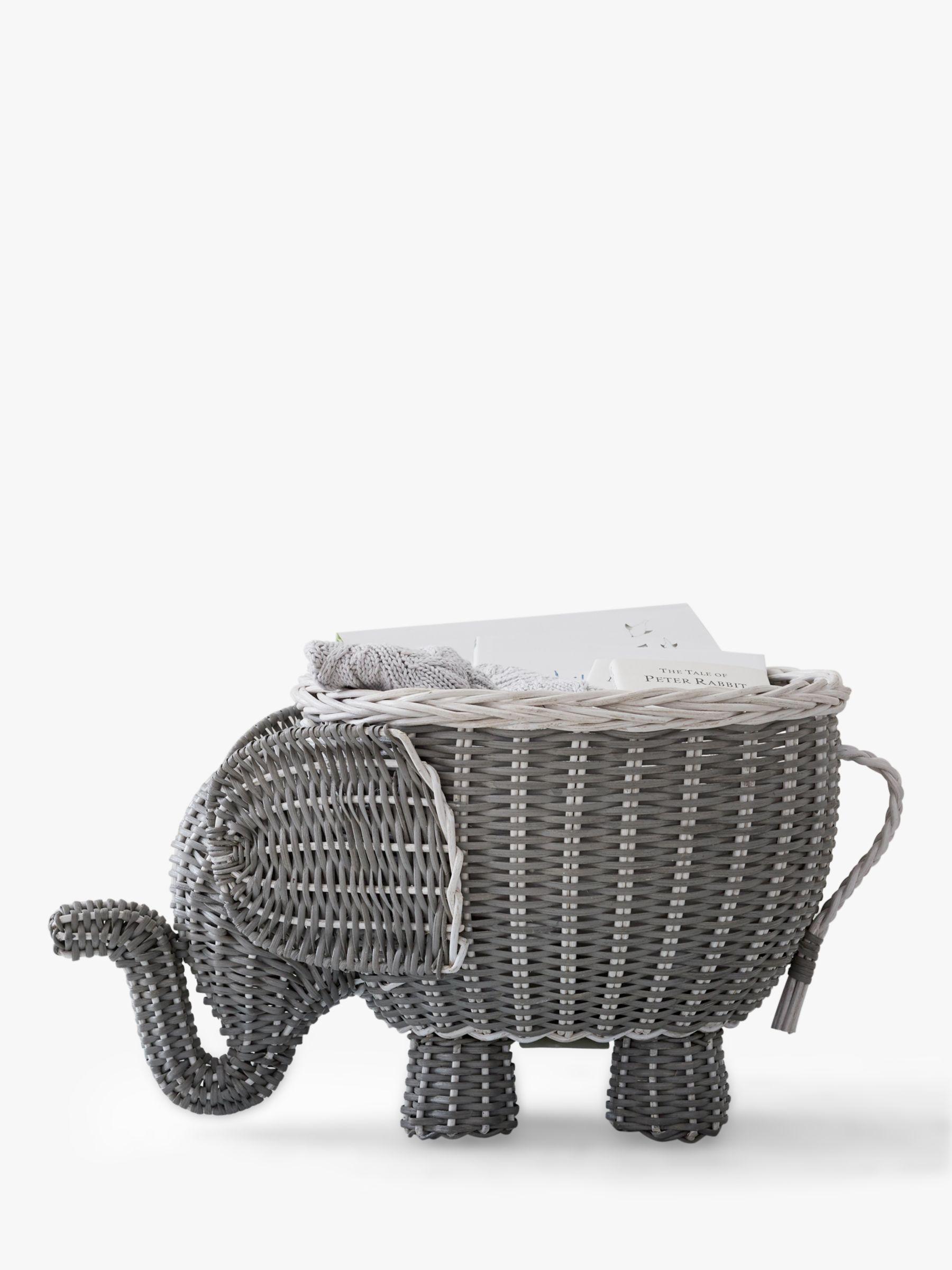 Pottery Barn Kids Elephant Shaped Storage Basket, Grey