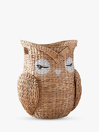 Pottery Barn Kids Woodland Owl Storage Basket, Natural