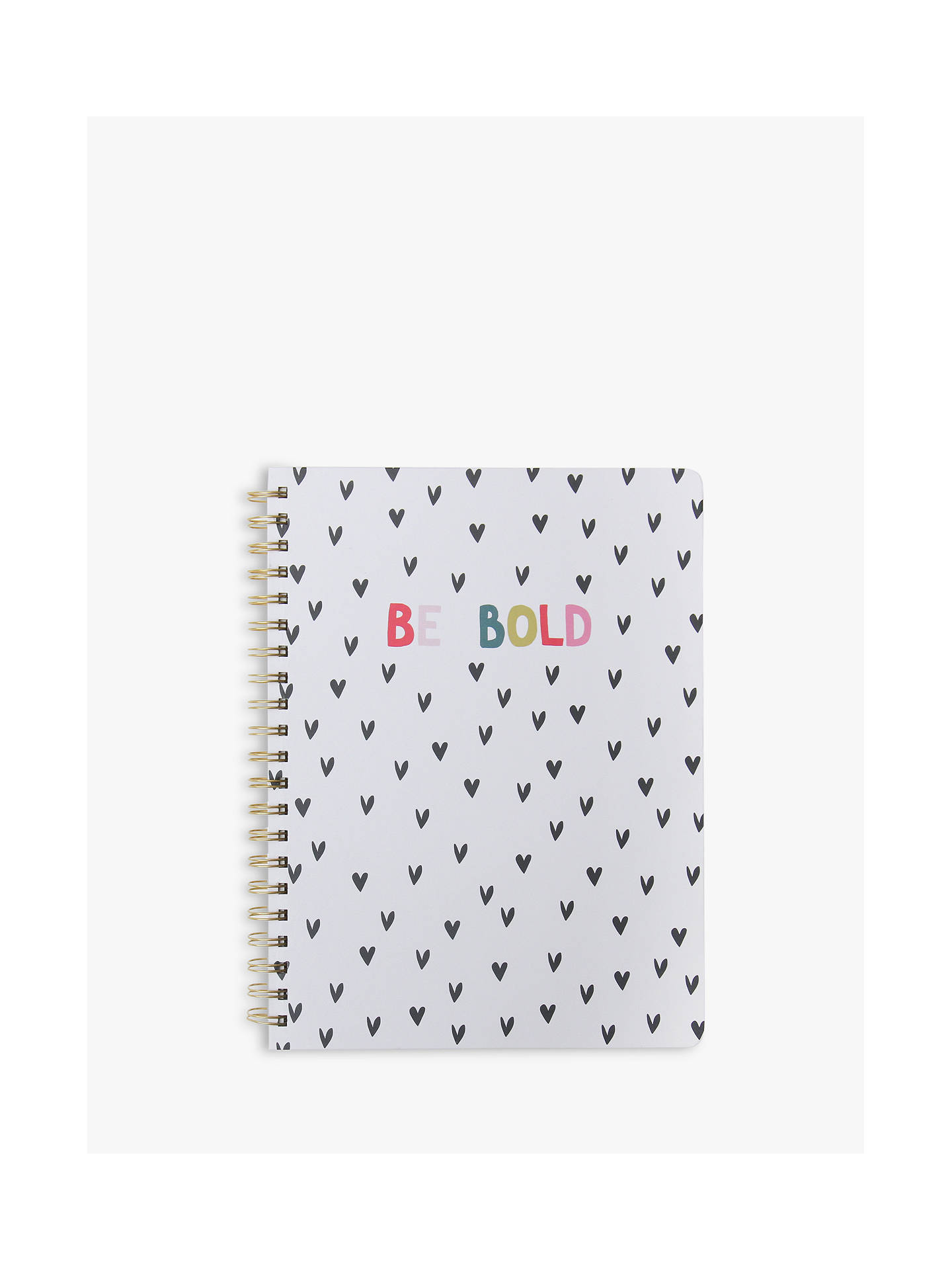 Buy Caroline Gardner Be Bold Spiral Notebook Online at johnlewis.com