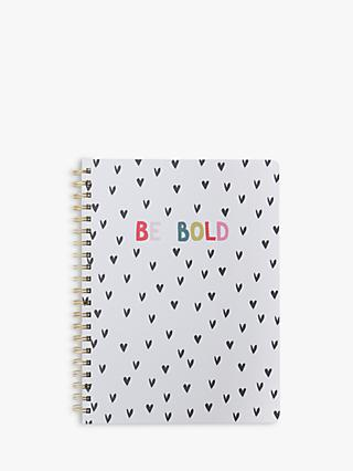 Caroline Gardner Be Bold Spiral Notebook