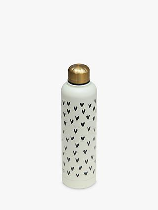 Caroline Gardner Hearts Metal Water Bottle, 550ml