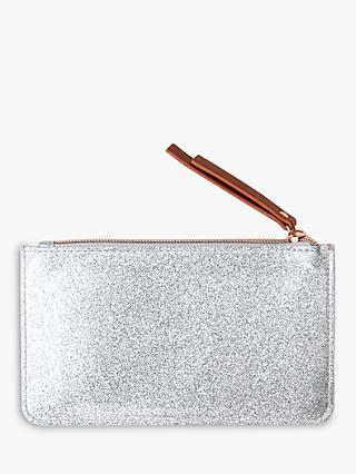 Caroline Gardner Everyday Glitter Purse, Silver