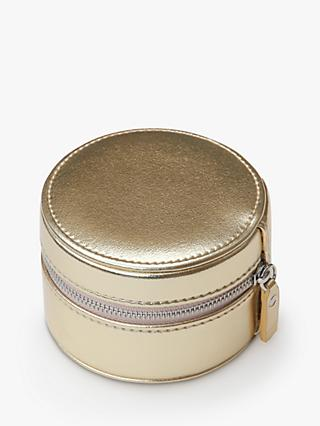 Caroline Gardner Golden Girl Round Jewellery Box, Gold