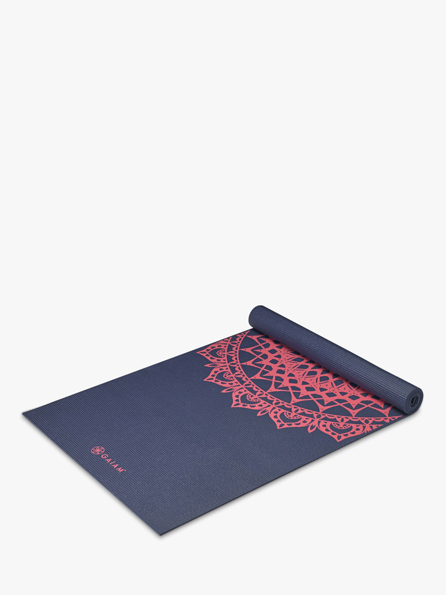 Gaiam Gaiam Premium Marrakesh 4mm Yoga Mat, Navy Fleur