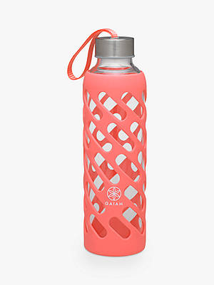 Buy Gaiam 568ml Sure Grip Water Bottle, Guava Online at johnlewis.com