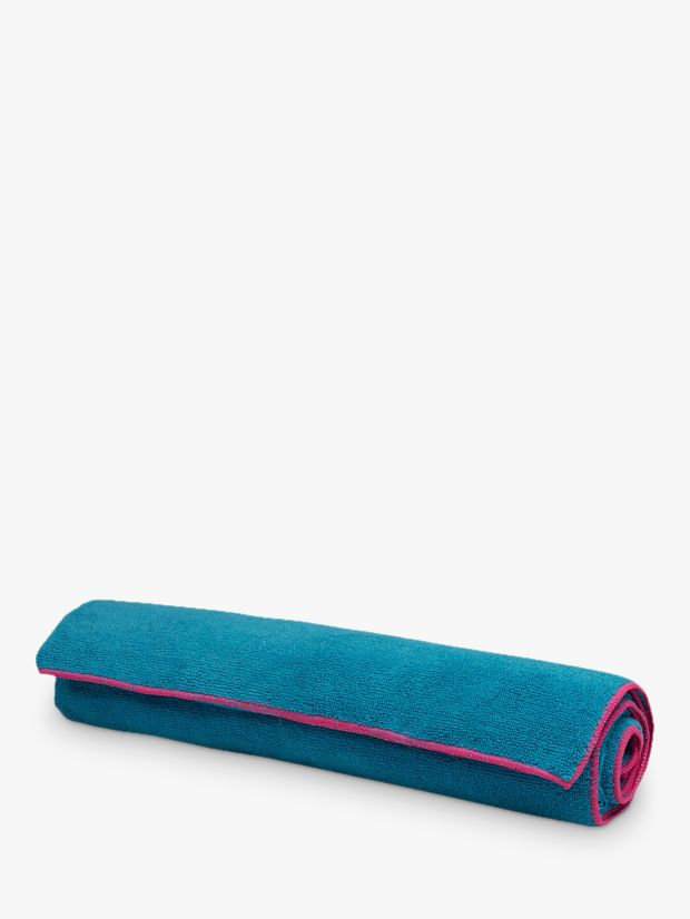 Gaiam Gaiam Yoga Mat Towel, Vivid Blue/Fuchsia