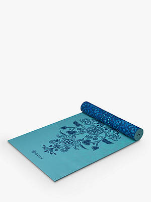 Buy Gaiam Reversible Mystic Sky 6mm Yoga Mat, Blue Online at johnlewis.com