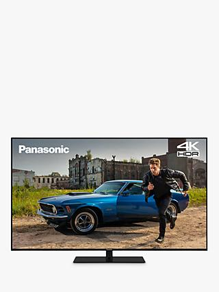 "Panasonic TX-43GX680B (2019) LED HDR 4K Ultra HD Smart TV, 43"" with Freeview Play & Silver Trim Bezel, Black"