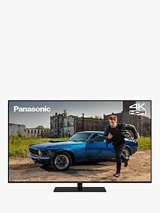 "Panasonic TX-49GX680B (2019) LED HDR 4K Ultra HD Smart TV, 49"" with Freeview Play & Silver Trim Bezel, Black"