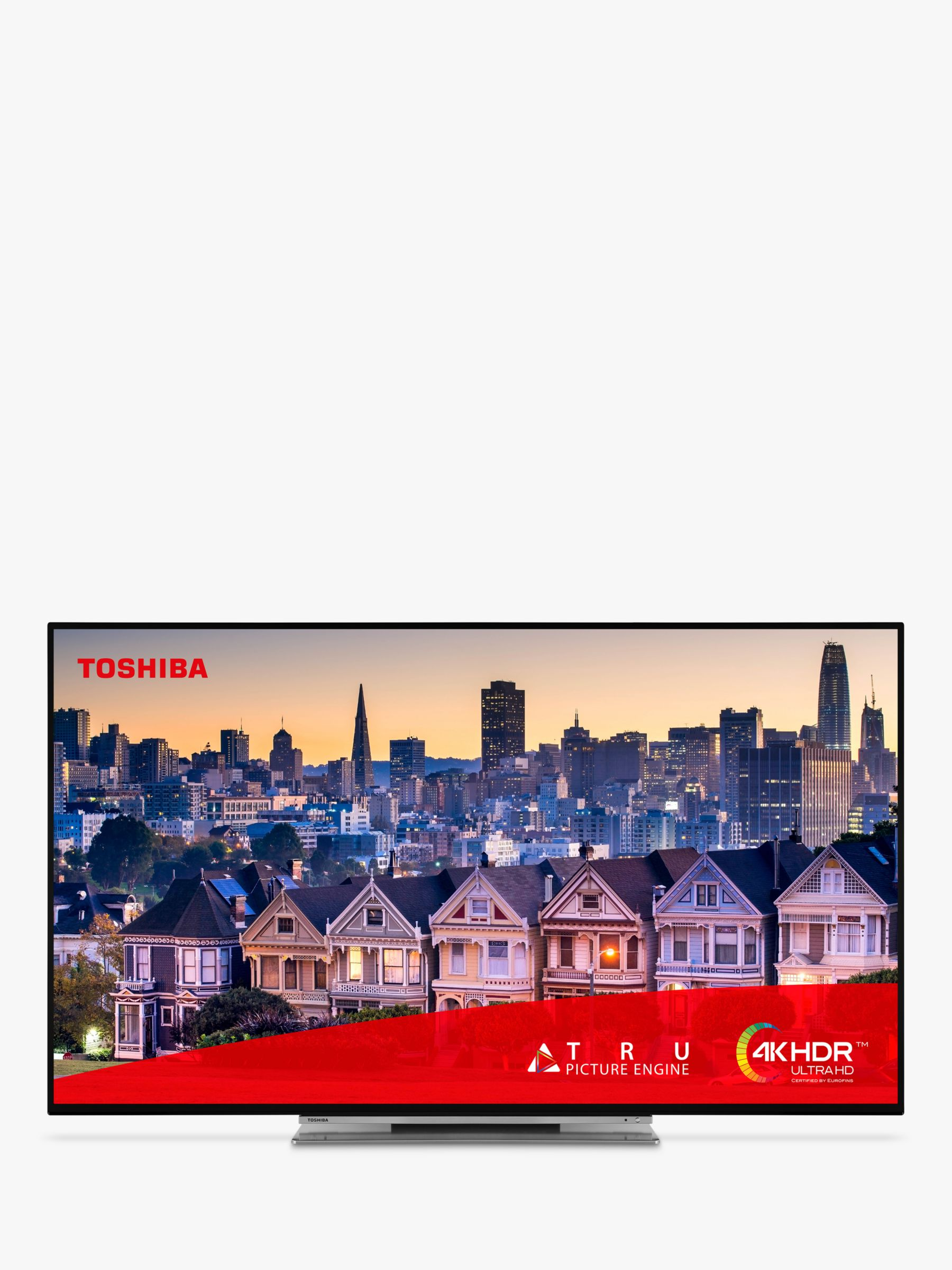 """Toshiba Toshiba 49UL5A63DB (2019) LED 4K Ultra HD Smart TV, 49"""" with Freeview HD & Freeview Play, Black"""