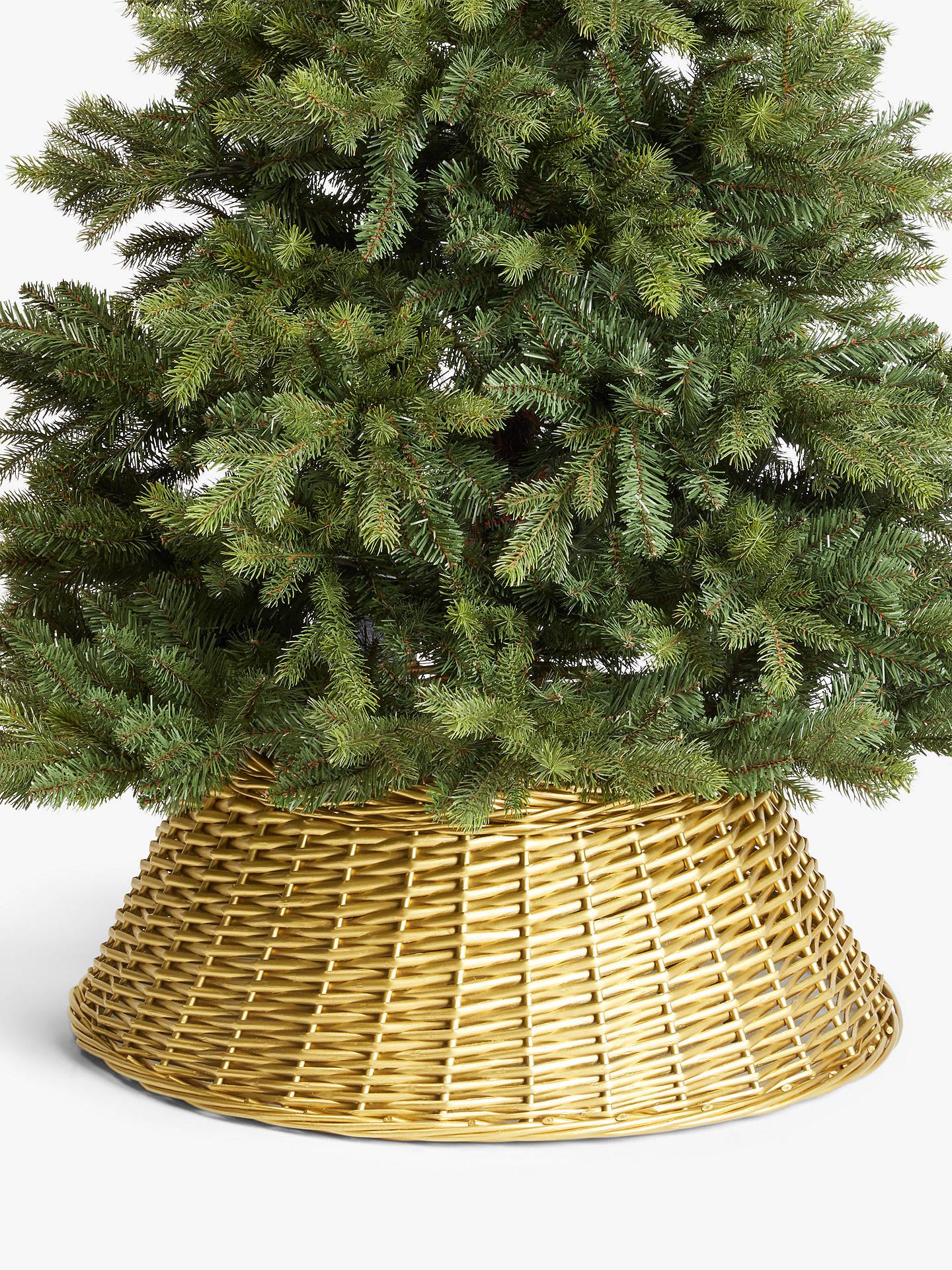 John Lewis Christmas Tree Skirt.John Lewis Partners Willow Tree Skirt Gold