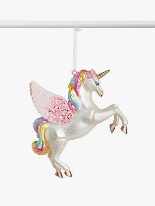 John Lewis & Partners ABC Unicorn Bauble, Multi