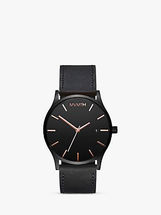 MVMT Men's Classic Date Leather Strap Watch