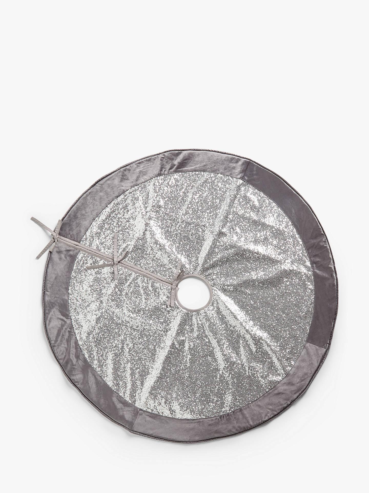 John Lewis Christmas Tree Skirt.John Lewis Partners Party Sequin Tree Skirt Silver