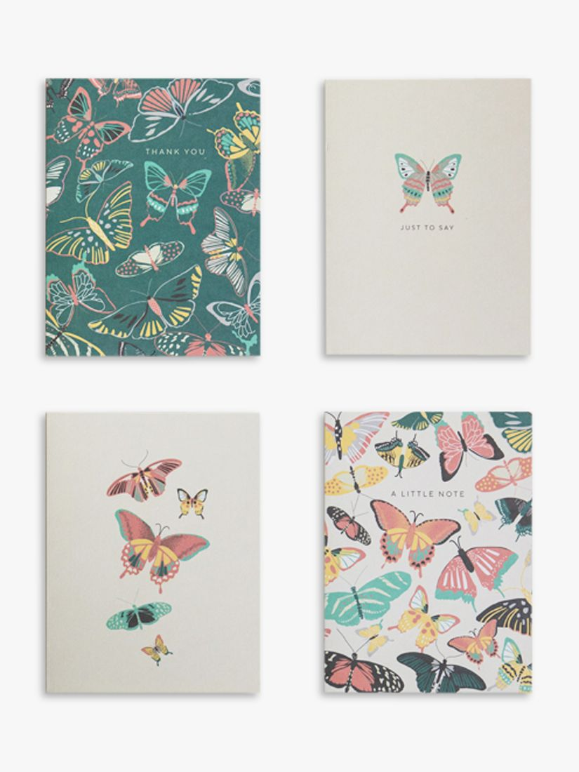 Portico Portico Butterflies Mini Notecards, Pack of 12
