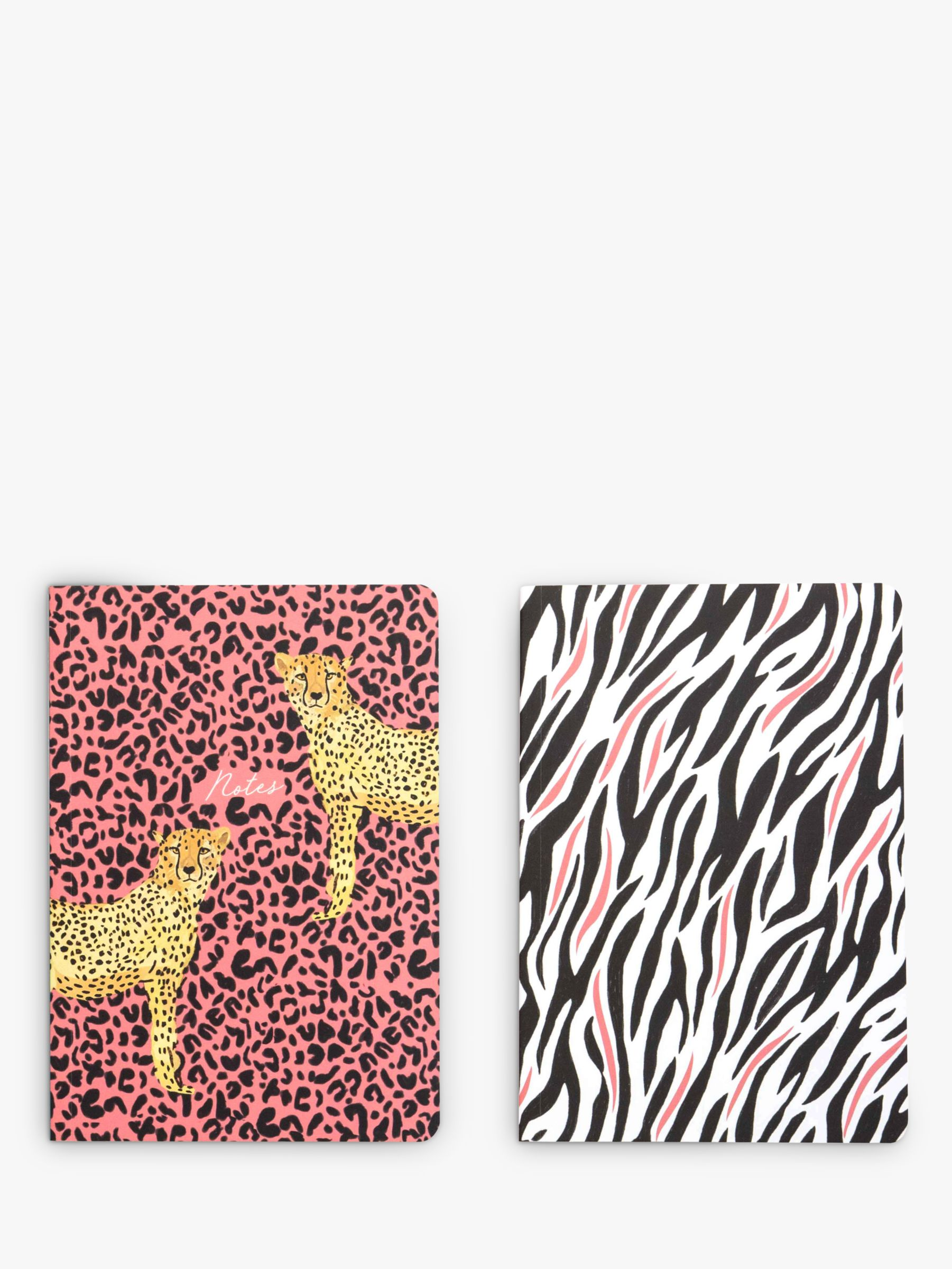 Portico Portico A5 Animal Print Notebooks, Pack of 2