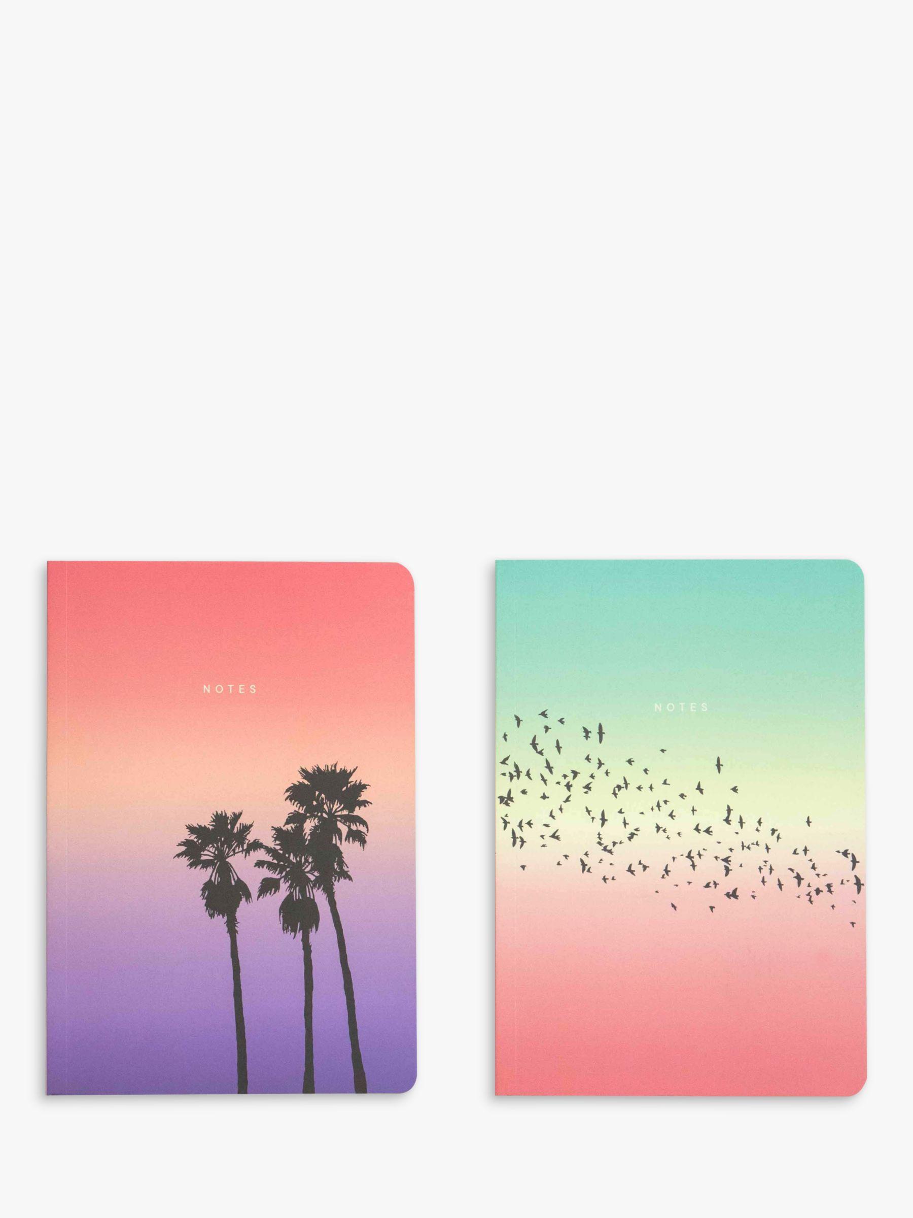 Portico Portico A5 Tropical Notebooks, Set of 2