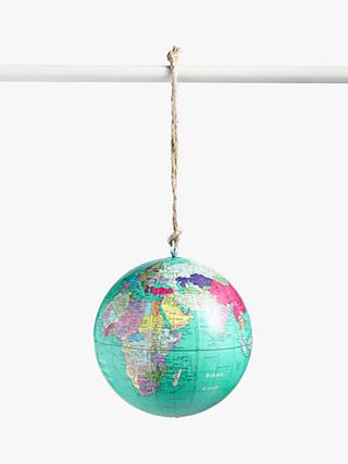 John Lewis & Partners ABC Globe Bauble, Green