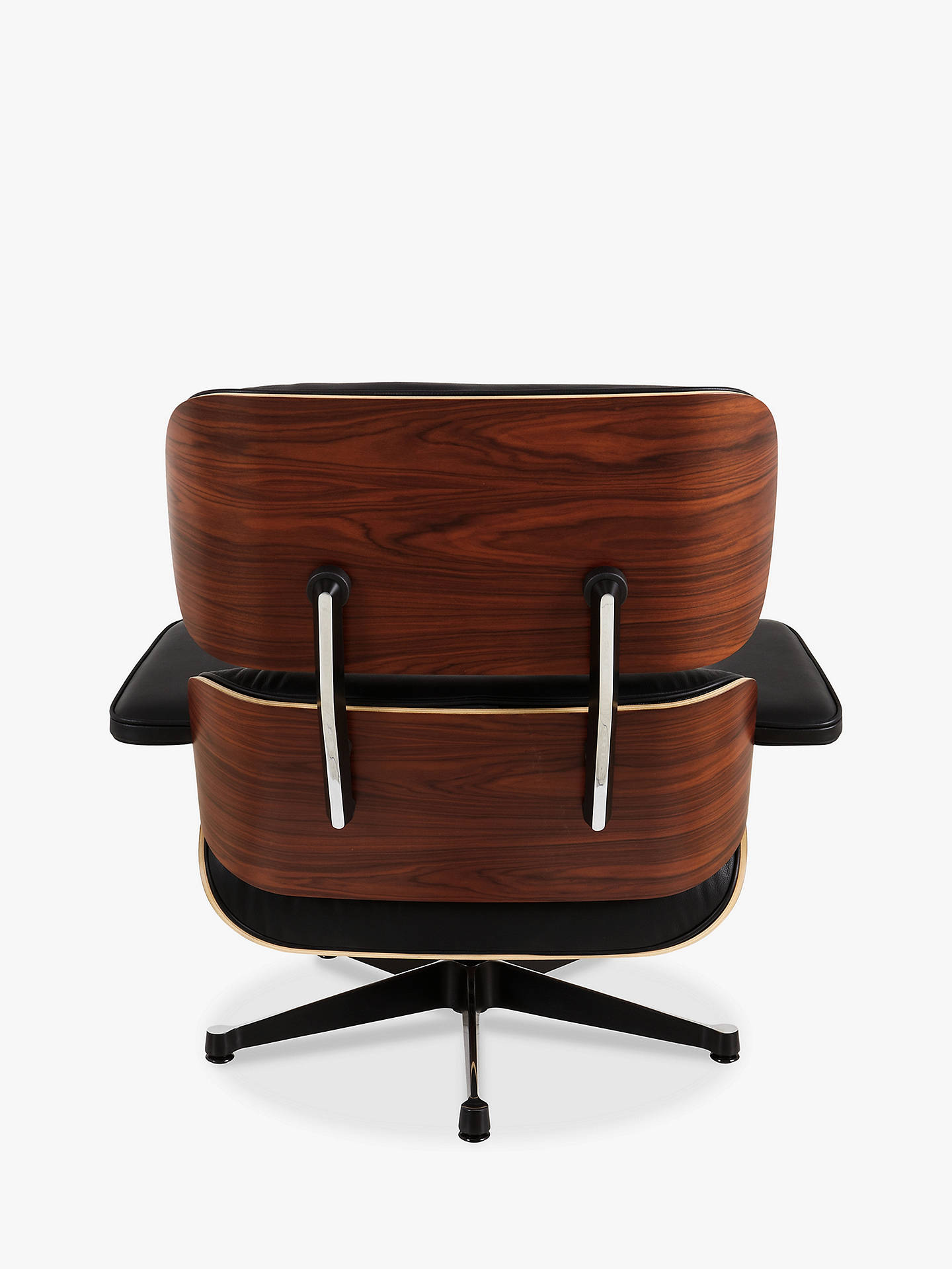 Buy Vitra Eames Classic Leather Lounge Chair and Ottoman, Black/Palisander Online at johnlewis.com