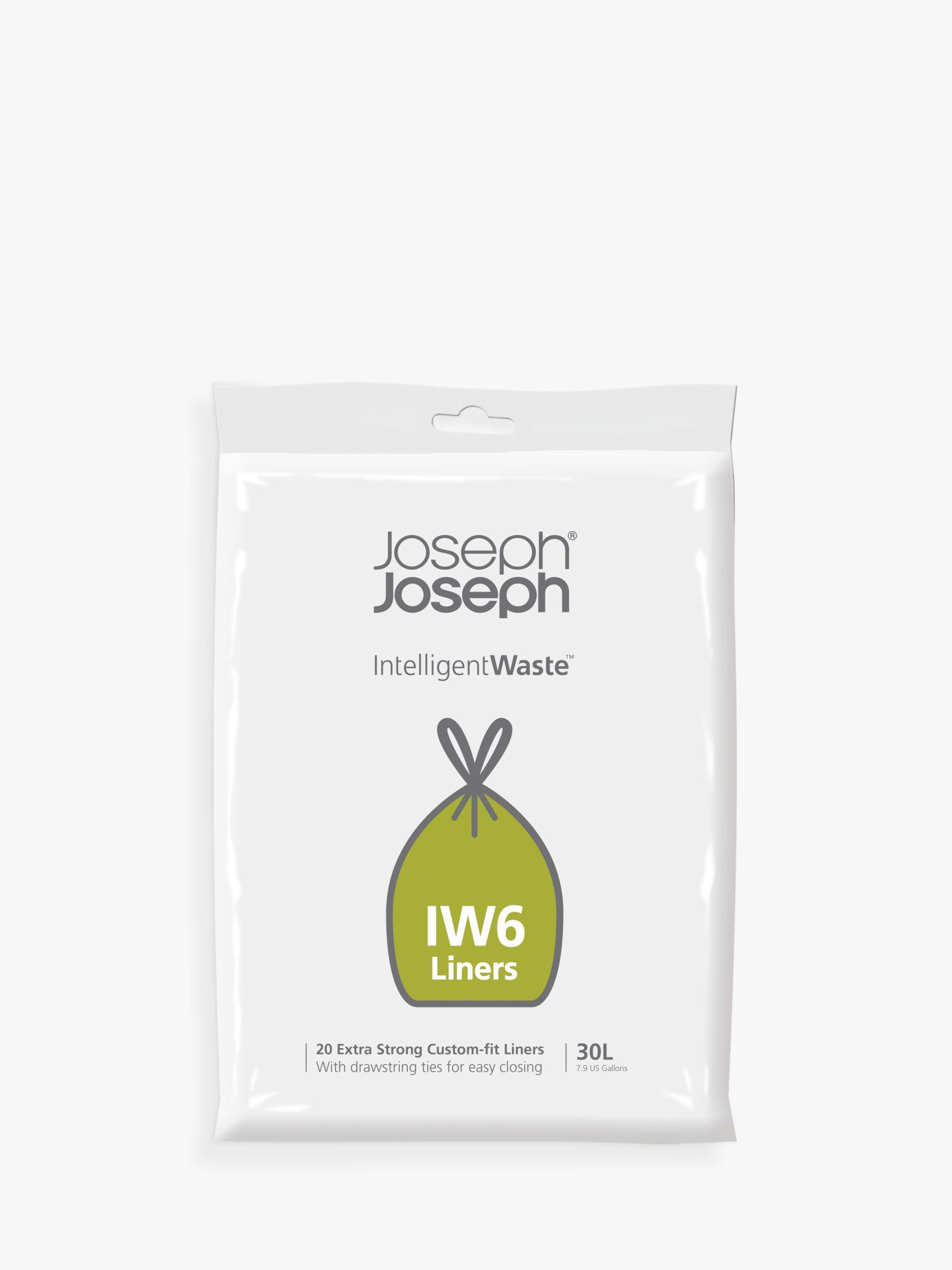 Joseph Joseph IW6 Intelligent Waste General Waste Bin Liners, 30L, Pack of 20