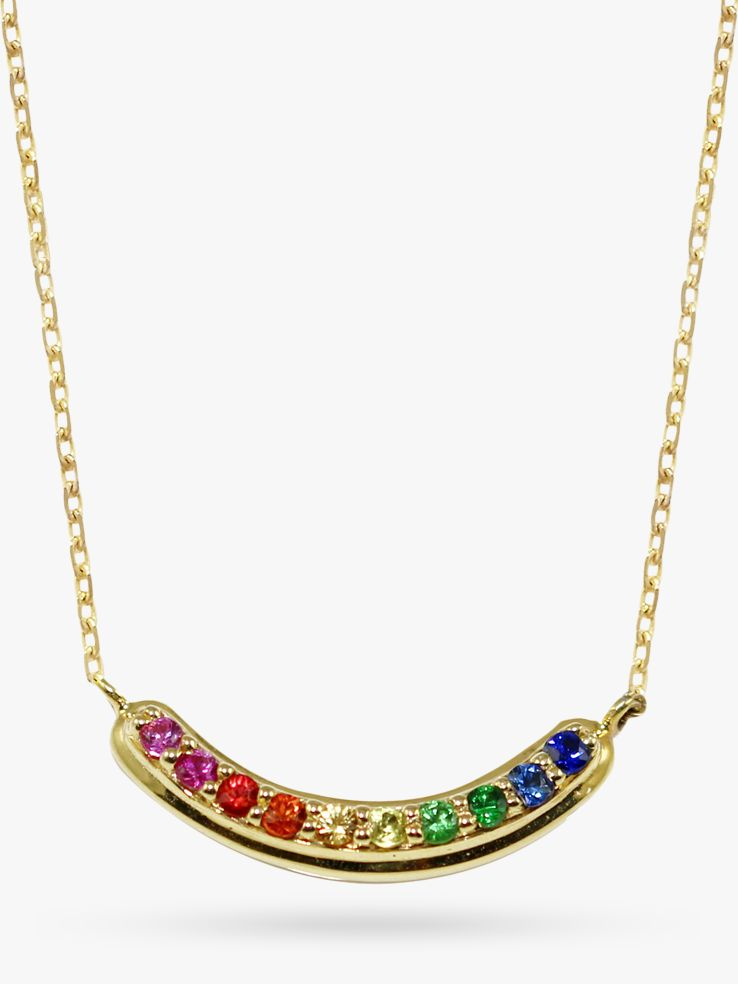 London Road London Road 9ct Yellow Gold Bloomsbury Rainbow Pendant Necklace