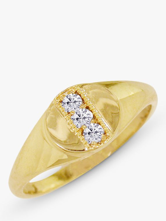 London Road London Road 9ct Gold Diamond Signet Ring