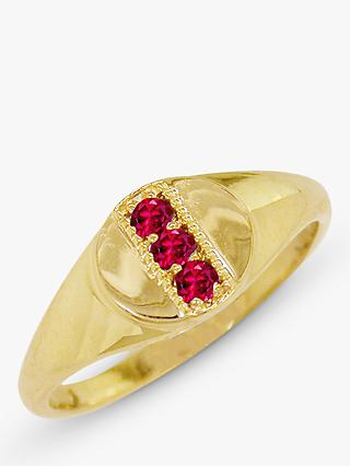 London Road 9ct Gold Ruby Signet Ring
