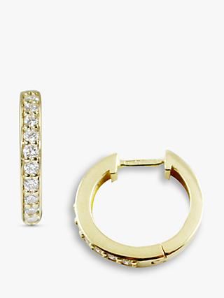 London Road 9ct Gold Diamond Hoop Earrings