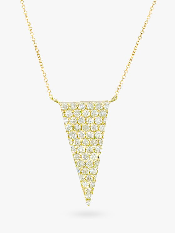 London Road London Road 9ct Gold Diamond Triangle Pendant Necklace