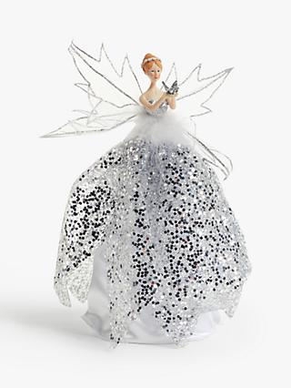 John Lewis & Partners Snowscape Fairy Tree Topper, Silver