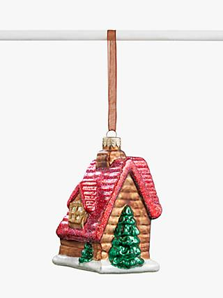 John Lewis & Partners Campfire Log Cabin Bauble