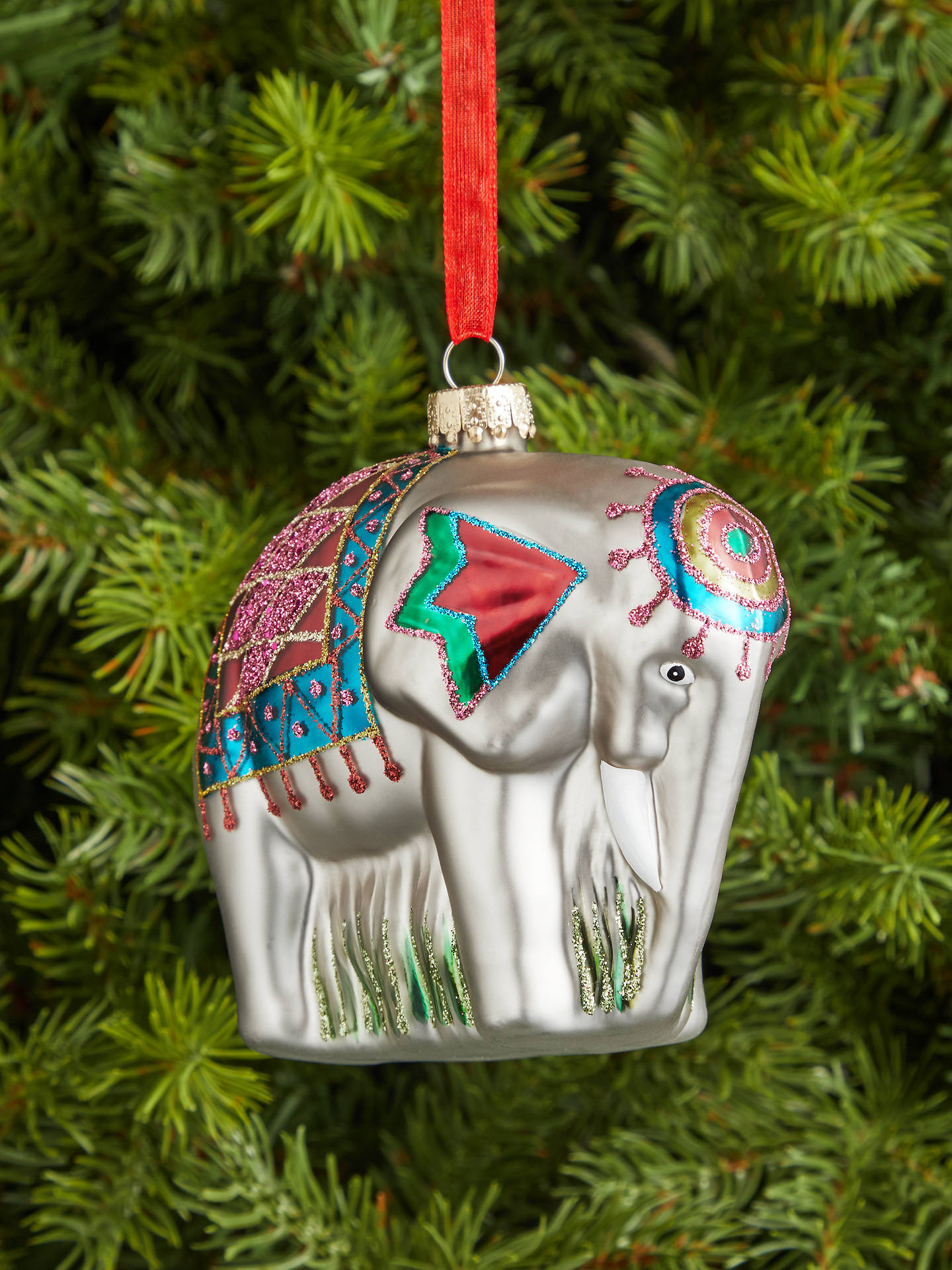 Buy John Lewis & Partners ABC Elephant Bauble, Multi Online at johnlewis.com
