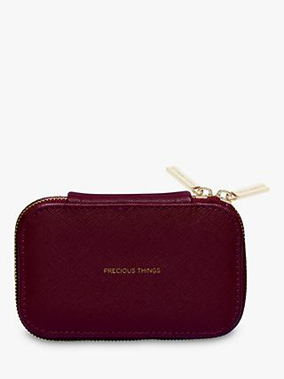 Estella Bartlett Precious Things Mini Zipped Jewellery Box, Burgundy