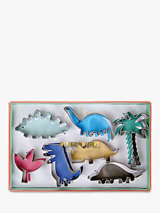 Meri Meri Dinky Dinosaur Cookie Cutters, Set of 7, Assorted
