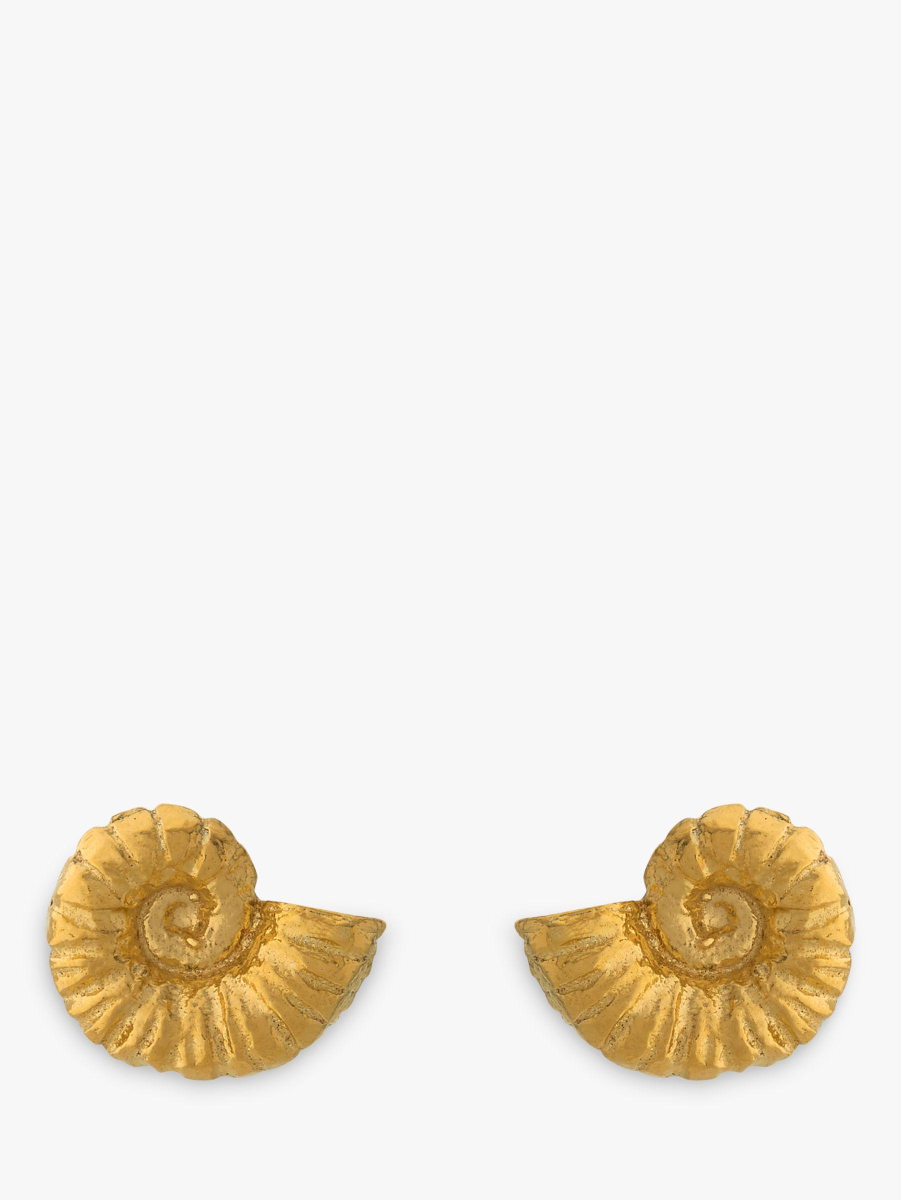 Alex Monroe Alex Monroe Natural History Ammonite Stud Earrings