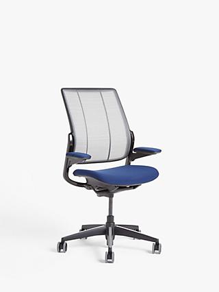 Humanscale Smart Ocean Office Chair, Navy/Black
