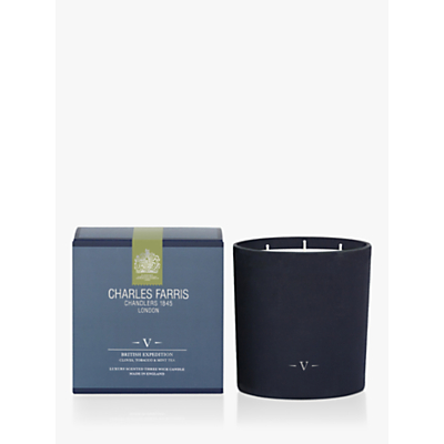 Charles Farris British Expedition 3 Wick Scented Candle, 1.48kg