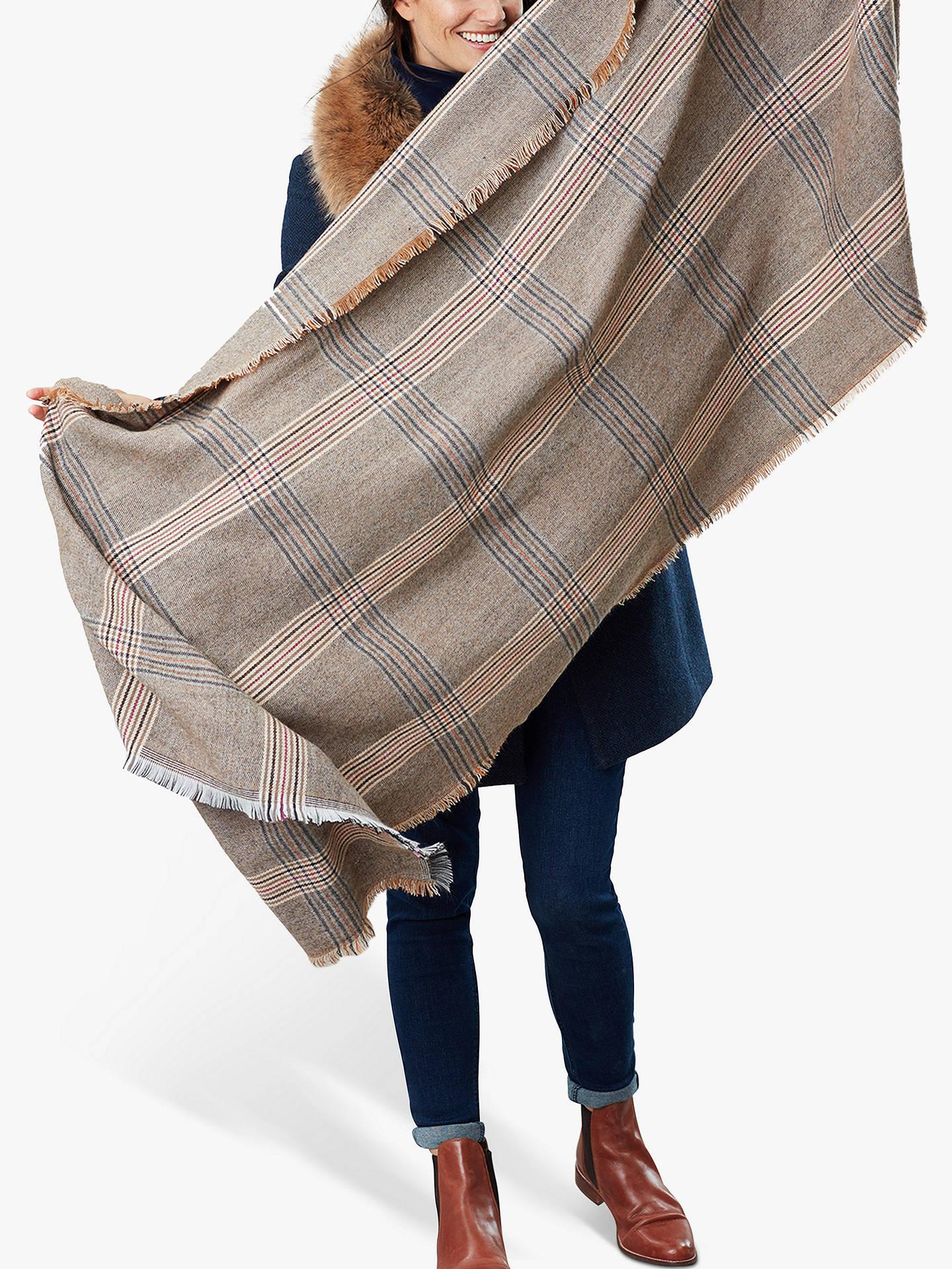 Ladies Womens Fearne Tweed Look Scarf ONE in BROWN in One Size Winter Muffler