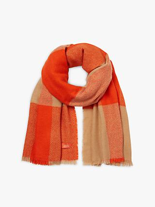 Joules Meadow Check Scarf, Orange
