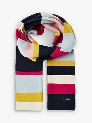 Joules Chill Away Wide Stripe Scarf, Multi