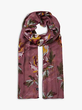 Joules Wensley Sheer Floral Scarf, Purple Mix