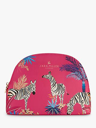 Sara Miller Tropical Zebras Medium Toiletries Bag