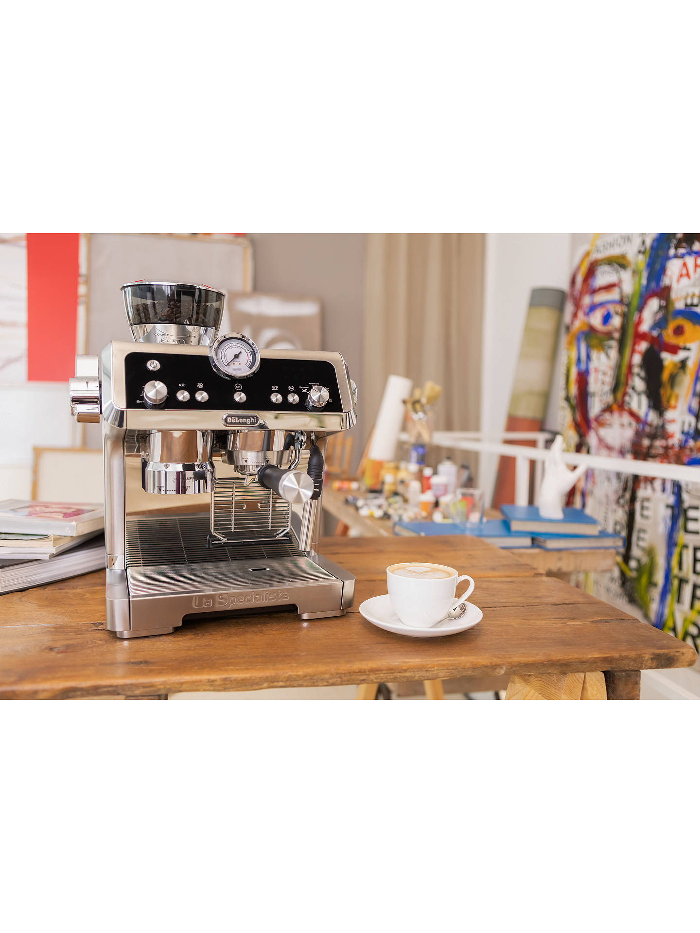 Buy De'Longhi EC9335.M La Specialista Bean to Cup Coffee Machine, Silver Online at johnlewis.com