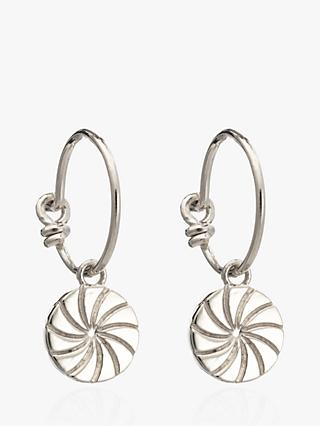 Rachel Jackson London Textured Circle Hoop Earrings