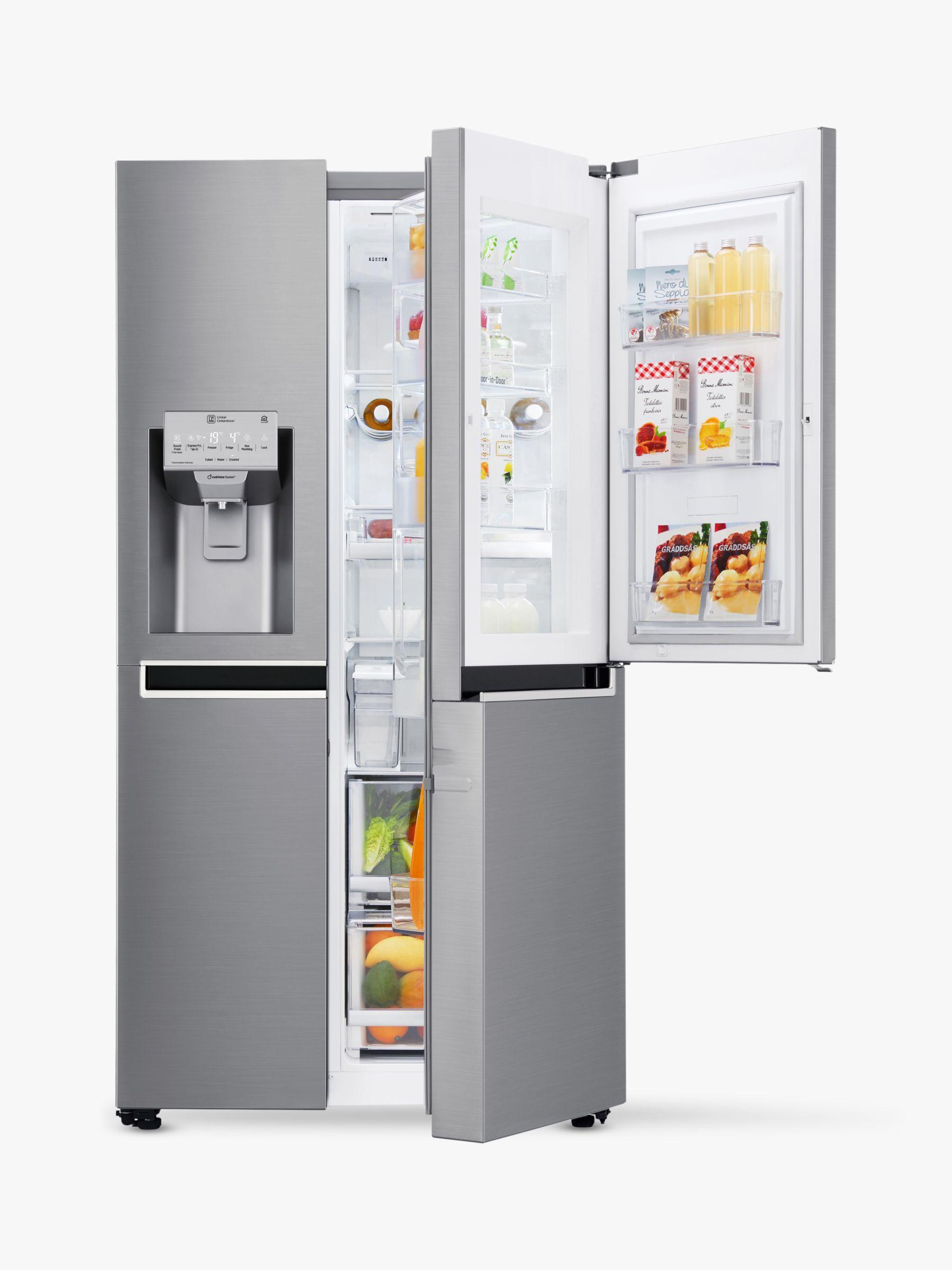 LG LG GSJ961PZVV Wi-Fi American Style Fridge Freezer, A+ Energy Rating, 91.2cm Wide, Shiny Steel