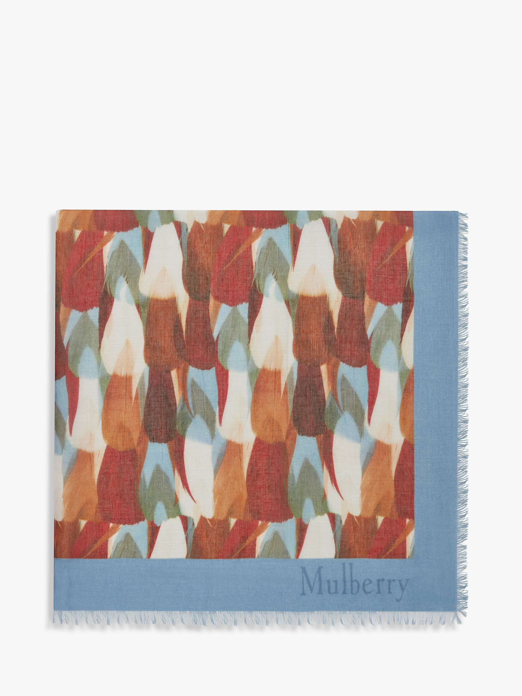 Mulberry Camouflage Square Scarf, Pale Slate by Mulberry