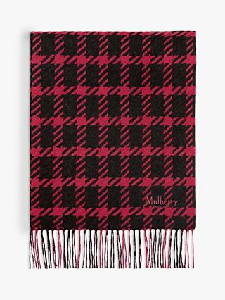 Mulberry Reversible Lambswool Scarf, Burgundy