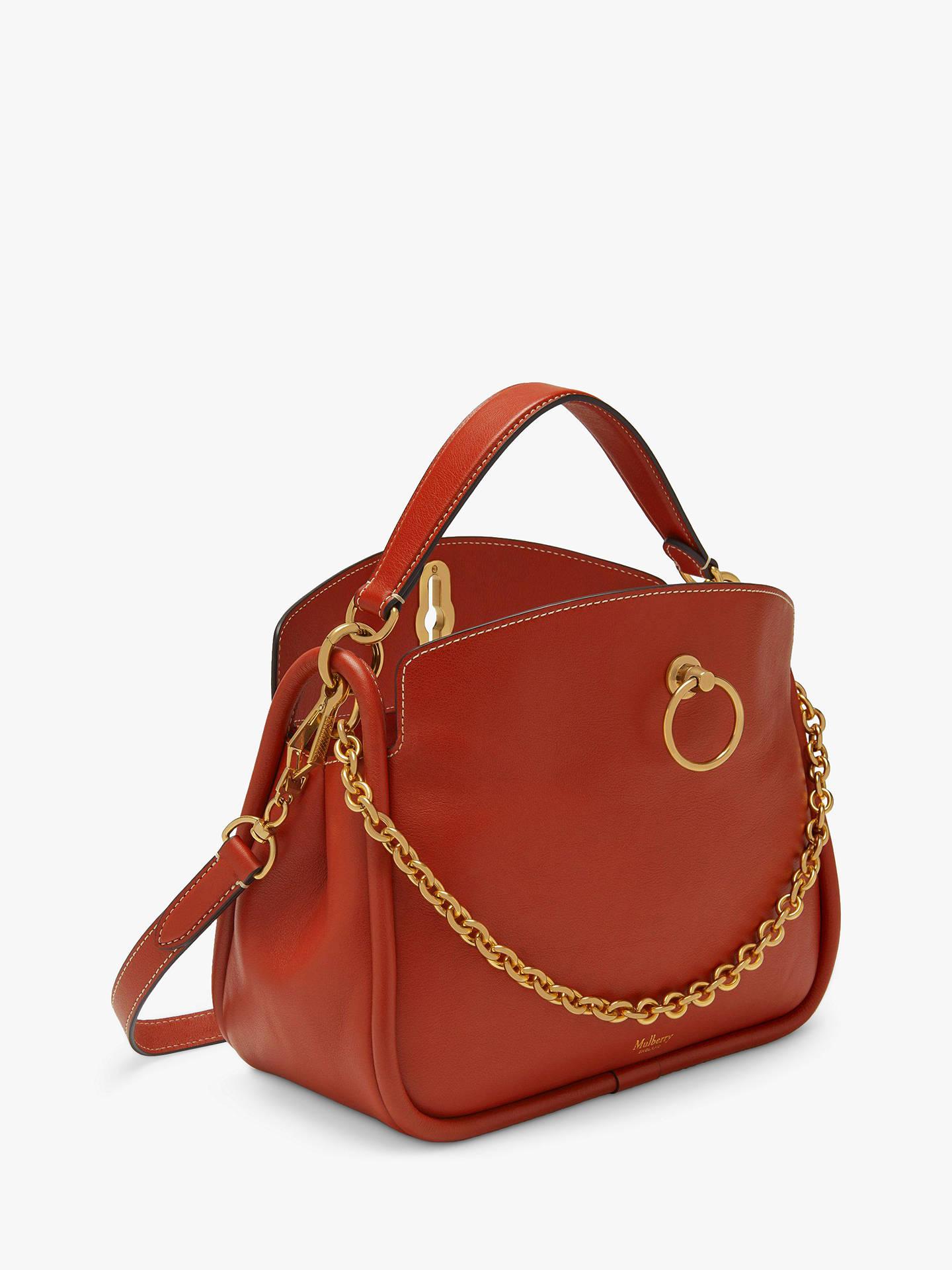 946e912ea9 Mulberry Small Leighton Silky Calf Leather Shoulder Bag, Rust